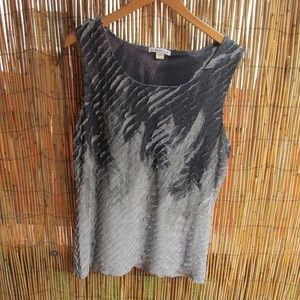 Coldwater Creek Sleeveless Top Gray and Black L